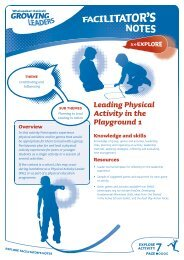 Leading Physical Activity in the Playground 1