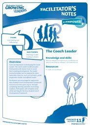 The Coach Leader - Sport New Zealand