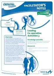 Leading Co-operative Activities
