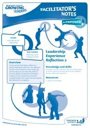 Leadership Experience Reflection 2 - Sport New Zealand
