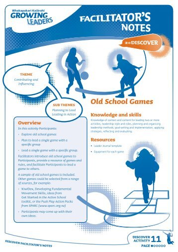 Old School Games - Sport New Zealand
