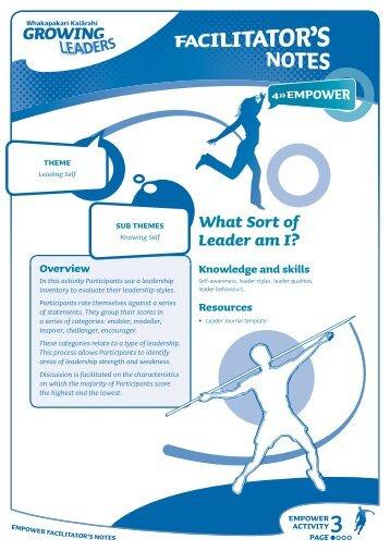 What Sort of Leader am I? - Sport New Zealand