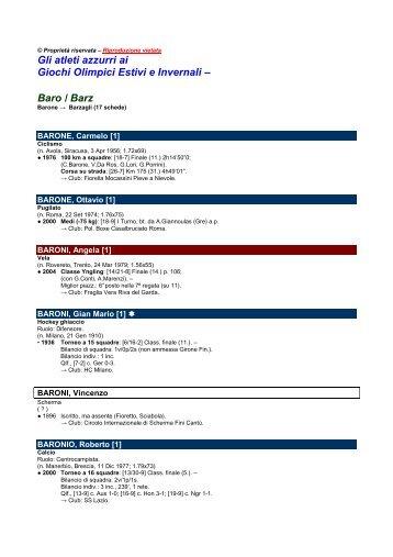 Baro / Barz - Sportolimpico.it