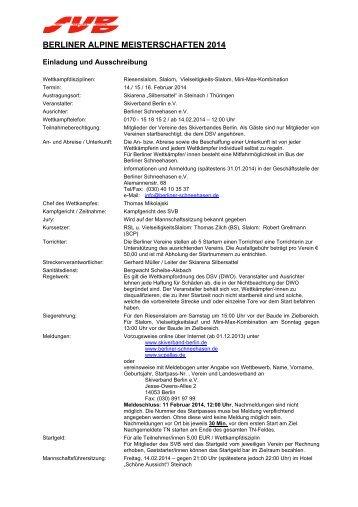 Ausschreibung - SportOn.de