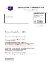 Bezirksmeisterschaften 2013 Hessischer Kegler- und ... - SportOn.de