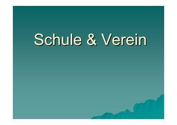 Schule und Verein - SportOn.de