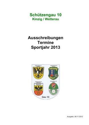 Schützengau 10 Ausschreibungen Termine Sportjahr ... - SportOn.de