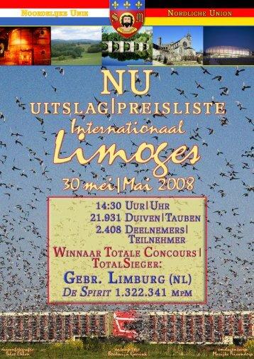 080613 Uitslag Limoges NU - Duivensites.nl