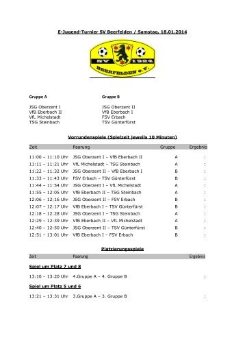 E-Jugend-Turnier SV Beerfelden 14 - Sporton.de