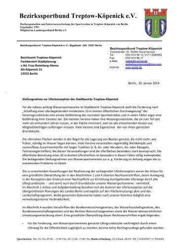 Bezirkssportbund Treptow-Köpenick e.V. - Sporton.de