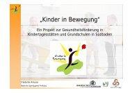 """""""Kinder in Bewegung"""" - Sport pro Gesundheit"""