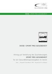 Formular downloaden - Sport pro Gesundheit