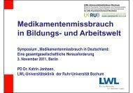Medikamentenmissbrauch i Bild d A b it lt in Bildungs- und Arbeitswelt