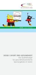 Flyer SPG RZ.indd - Sport pro Gesundheit