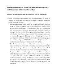 Statement Henning Schreiber - Sport pro Gesundheit