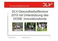 DLV Gesundheitsoffensive DLV-Gesundheitsoffensive 2010 mit ...