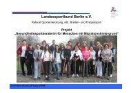 Projekt - Sport pro Gesundheit