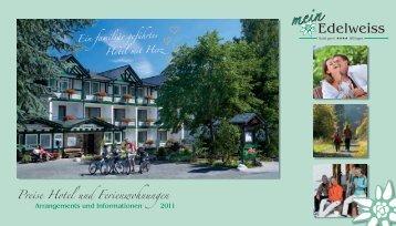 Preise Hotel und Ferienwohnungen - Hotel Edelweiss Willingen