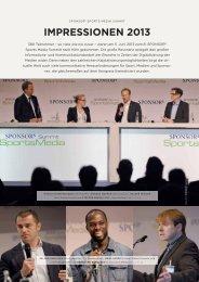 IMPRESSIONEN 2013 - SPONSORs Sports Media Summit
