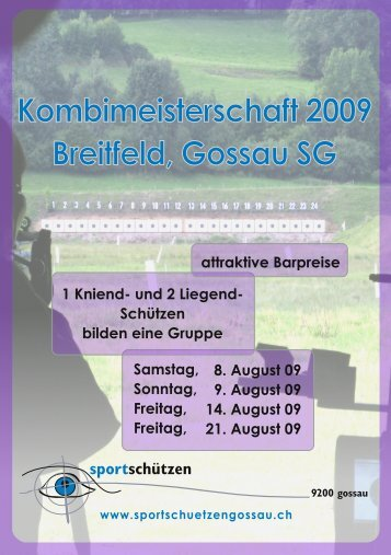 Schiessplan 2009 - Sportschützen Gossau
