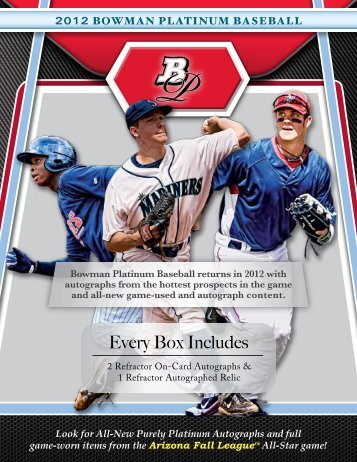 Bowman Platinum BB - HOBBY - Sports Collectors Daily