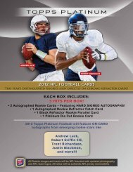 2012 nfl football cards each box includes: 3 hits per ... - Blowout Cards