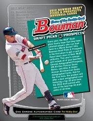 Bowman Draft Picks & Prospects Sell Sheet 2012 - Sports Collectors ...