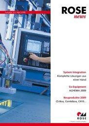 ROSE News 04 09 - ROSE Systemtechnik Industriegehäuse, Ex ...