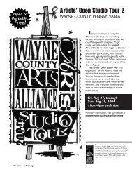 Artists' Open Studio Tour 2 - Wayne County Arts Alliance