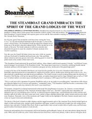 the steamboat grand embraces the spirit of the grand lodges of the ...