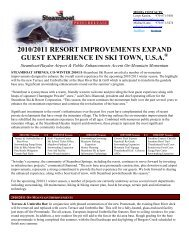 2010/2011 resort improvements expand guest ... - Steamboat