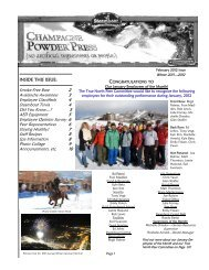 INSIDE THIS ISSUE: Smoke-Free Base 2 Avalanche ... - Steamboat