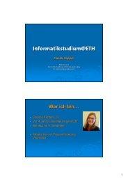 Vortrag Informationen zum Studium - ETH - Frauenförderung ...