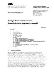 Forum for Women in Computer Science - ETH - Frauenförderung ...