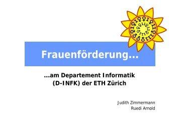 Vortrag - Frauenförderung Informatik - ETH Zürich