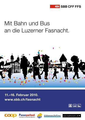 Mit Bahn und Bus an die Luzerner Fasnacht. - Gemeinde Emmen