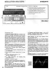 MODULATION ANALYZERS - Helmut Singer Elektronik
