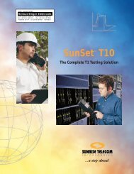 Sunrise Telecom SunSet T10 Data Sheet - Mr Test Equipment