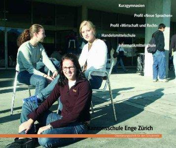 Orientierungsschrift der Kantonsschule Enge