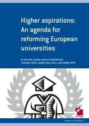 Higher aspirations: an agenda for reforming European universities