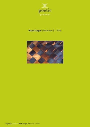 WaterCarpet | Overview | 111006 - Poetic
