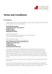 Terms and Conditions - Fashion for Home