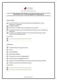 Checkliste Wohnungsbesichtigung - Alle Fragen ... - Fashion for Home