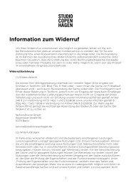Information zum Widerruf - Fashion for Home