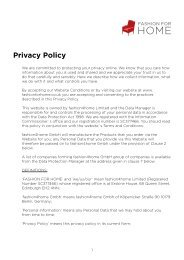 Privacy Policy - Fashion for Home