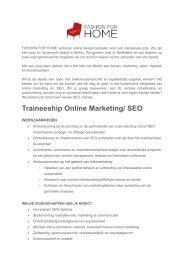 Traineeship Online Marketing/ SEO
