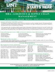 MBA Logistics & Supply Chain Management