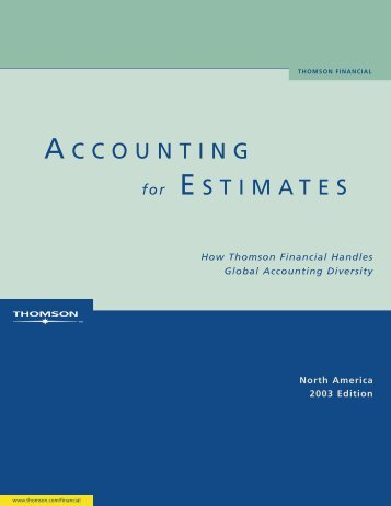 i/b/e/s accounting for estimates - north america