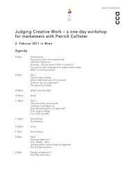Judging Creative Work – a one-day workshop for marketeers with ...