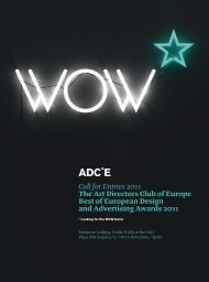 Call for Entries 2011 The Art Directors Club of Europe Best of ...